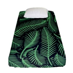 Coconut Leaves Summer Green Fitted Sheet (single Size) by Mariart