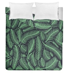 Coconut Leaves Summer Green Duvet Cover Double Side (queen Size) by Mariart