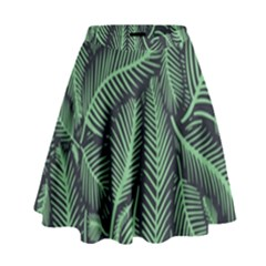 Coconut Leaves Summer Green High Waist Skirt by Mariart