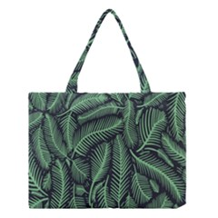 Coconut Leaves Summer Green Medium Tote Bag by Mariart