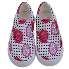 Fruit Patterns Bouffants Broken Hearts Dragon Polka Dots Red Black Kids  Canvas Slip Ons