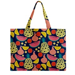 Fruit Pineapple Watermelon Orange Tomato Fruits Zipper Mini Tote Bag by Mariart