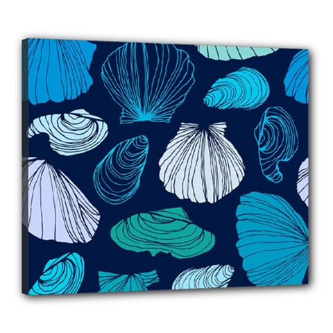 Mega Menu Seashells Canvas 24  X 20  by Mariart