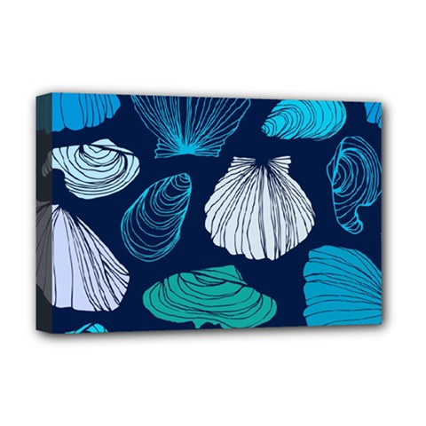 Mega Menu Seashells Deluxe Canvas 18  X 12   by Mariart