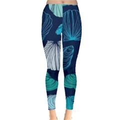 Mega Menu Seashells Leggings  by Mariart