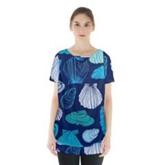 Mega Menu Seashells Skirt Hem Sports Top by Mariart