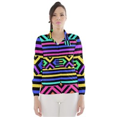 Optical Illusion Line Wave Chevron Rainbow Colorfull Wind Breaker (women) by Mariart