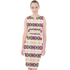 Rhombus And Stripes                              Midi Bodycon Dress