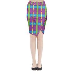 Stripes And Dots                     Midi Wrap Pencil Skirt