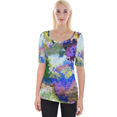 Color Mix Canvas                           Wide Neckline Tee