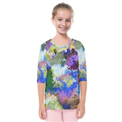 Color Mix Canvas                     Kids  Quarter Sleeve Raglan Tee by LalyLauraFLM