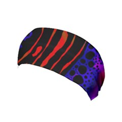 Frog Spectrum Polka Line Wave Rainbow Yoga Headband