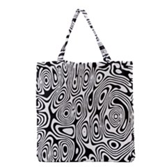 Psychedelic Zebra Black White Grocery Tote Bag by Mariart