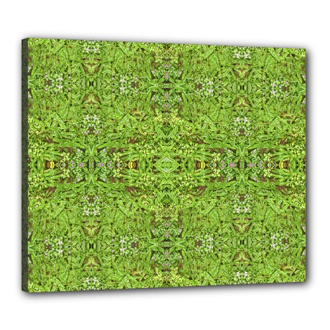 Digital Nature Collage Pattern Canvas 24  X 20  by dflcprints