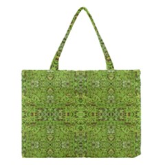Digital Nature Collage Pattern Medium Tote Bag by dflcprints