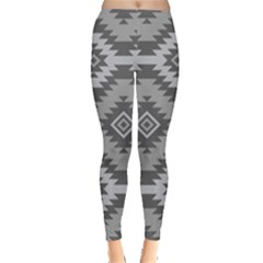 Triangle Wave Chevron Grey Sign Star Leggings  by Mariart
