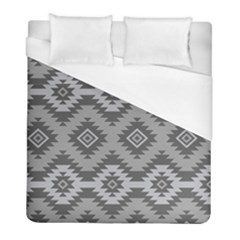 Triangle Wave Chevron Grey Sign Star Duvet Cover (full/ Double Size) by Mariart
