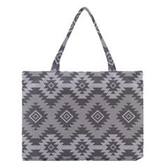 Triangle Wave Chevron Grey Sign Star Medium Tote Bag by Mariart