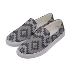 Triangle Wave Chevron Grey Sign Star Women s Canvas Slip Ons by Mariart