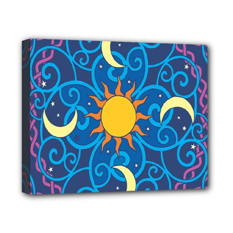 Sun Moon Star Space Vector Clipart Canvas 10  X 8  by Mariart