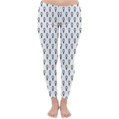 Woman Sign Circle Black Classic Winter Leggings by Mariart