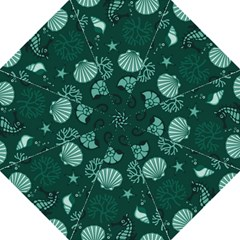Vector Seamless Pattern With Sea Fauna Seaworld Folding Umbrellas by Mariart