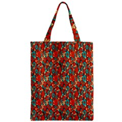 Surface Patterns Bright Flower Floral Sunflower Zipper Classic Tote Bag by Mariart
