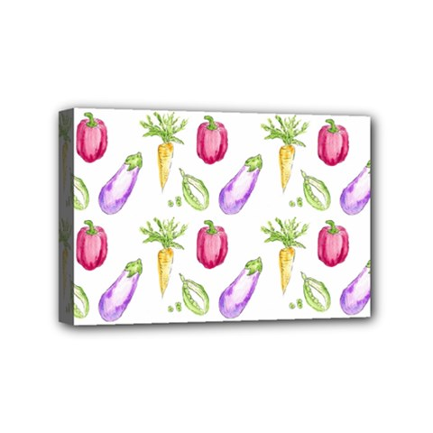 Vegetable Pattern Carrot Mini Canvas 6  X 4  by Mariart
