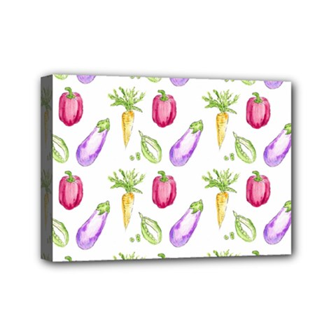 Vegetable Pattern Carrot Mini Canvas 7  X 5  by Mariart