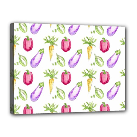 Vegetable Pattern Carrot Canvas 16  X 12  by Mariart