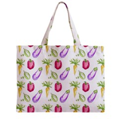 Vegetable Pattern Carrot Zipper Mini Tote Bag by Mariart