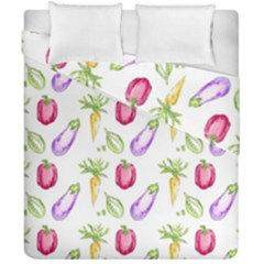 Vegetable Pattern Carrot Duvet Cover Double Side (california King Size) by Mariart
