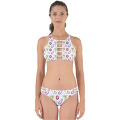 Vegetable Pattern Carrot Perfectly Cut Out Bikini Set
