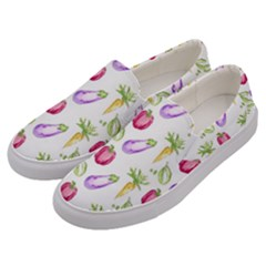 Vegetable Pattern Carrot Men s Canvas Slip Ons by Mariart