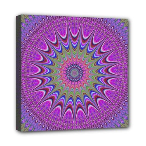 Art Mandala Design Ornament Flower Mini Canvas 8  X 8