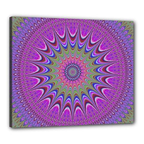 Art Mandala Design Ornament Flower Canvas 24  X 20