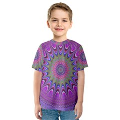 Art Mandala Design Ornament Flower Kids  Sport Mesh Tee