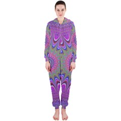 Art Mandala Design Ornament Flower Hooded Jumpsuit (ladies)