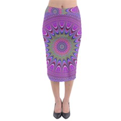 Art Mandala Design Ornament Flower Midi Pencil Skirt by BangZart