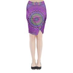 Art Mandala Design Ornament Flower Midi Wrap Pencil Skirt