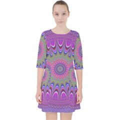 Art Mandala Design Ornament Flower Pocket Dress