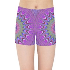 Art Mandala Design Ornament Flower Kids Sports Shorts
