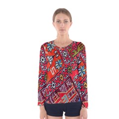 Carpet Orient Pattern Women s Long Sleeve Tee