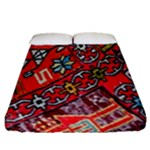 Carpet Orient Pattern Fitted Sheet (Queen Size)