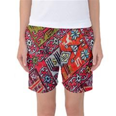 Carpet Orient Pattern Women s Basketball Shorts