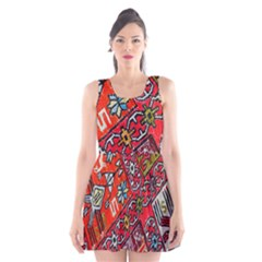 Carpet Orient Pattern Scoop Neck Skater Dress