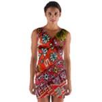 Carpet Orient Pattern Wrap Front Bodycon Dress