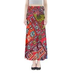 Carpet Orient Pattern Full Length Maxi Skirt