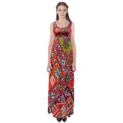 Carpet Orient Pattern Empire Waist Maxi Dress