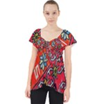 Carpet Orient Pattern Lace Front Dolly Top